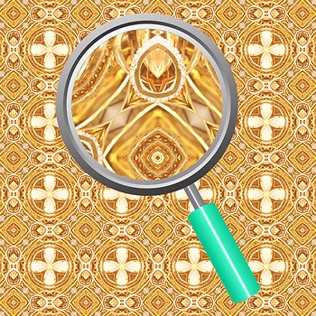 Golden Treasure Backgrounds / Pattern / Digital Paper Clip Art Commercial Use