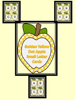 Golden Yellow Dot Apple Alphabet Letter Flashcards