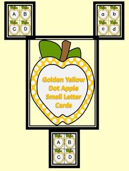 Golden Yellow Dot Apple Alphabet Letter Flashcards