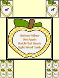 Golden Yellow Dot Apple Dolch First Grade Sight Word Flashcards and Posters