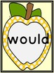 Golden Yellow Dot Apple Dolch Second Grade Sight Word Flashcards and Posters