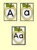 Golden Yellow Dot Apple Full Page Alphabet Letter Posters / Word Wall Posters