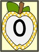 Golden Yellow Dot Apple Full Page Number Posters 0-100