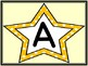 Golden Yellow Dot Star Alphabet Letter Posters