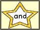 Golden Yellow Dot Star  Dolch Pre-Primer Sight Word Flashcards and Posters
