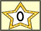 Golden Yellow Dot Star Full Page Math Number Posters 0-100