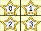 Golden Yellow Dot Star Number Flashcards 0-100