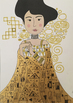 Golden Girls inspired by Gustav Klimt (colouring pages, art activity, posters)