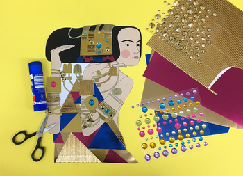 Golden Girls Inspired By Gustav Klimt Coloring Pages Art Activity