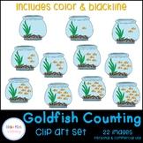Goldfish Bowl Counting Clip Art