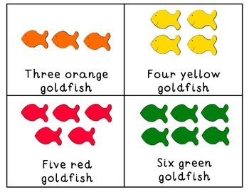 Goldfish Colors Crackers Counting Emergent Reader