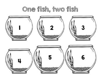 Goldfish Cracker Counting Mats