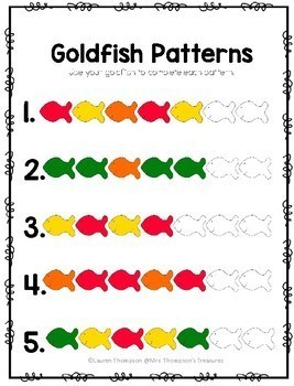 Goldfish Fun Activity Pack - Graphing, Sorting, Patterns & More