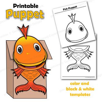Goldfish Craft Activity | Fish Puppet