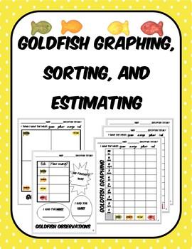 Goldfish Estimate, Sort, Graph Math Activity Pack
