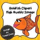Goldfish - Fish- Clipart- Digital Image