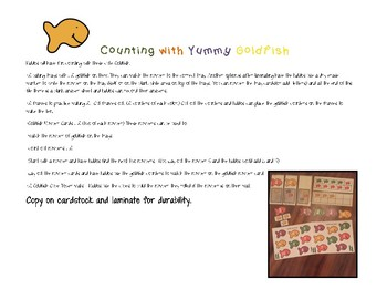 Goldfish Math Practice Counting 1-10