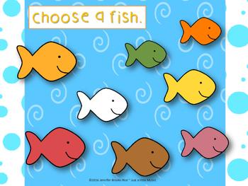Goldfish Melody Practice--5 different activities to practice reading sol mi la