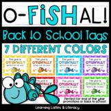 Goldfish Ofishally Back to School Gift Tags Student Treat