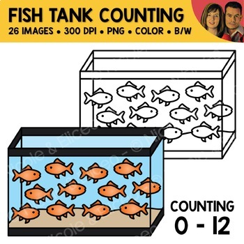 Fish Tank Counting Scene Clipart