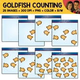 Goldfish Snack Counting Scene Clipart
