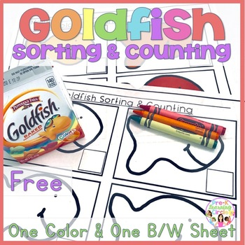(FREE) Goldfish Sorting & Counting Activity