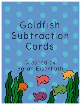 Goldfish Subtraction Cards