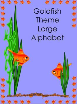 Goldfish Theme Large Alphabet