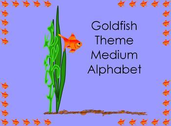 Goldfish Theme Medium Alphabet