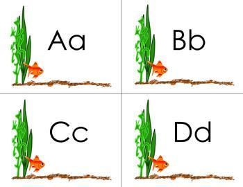 Goldfish Theme Small Alphabet