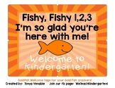 Goldfish Welcome Tags