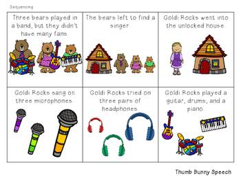 Goldi Rocks And The Three Bears: Speech and Language Activities