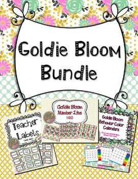 Goldie Bloom Classroom Decor & Management Tools Bundle