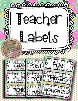 Goldie Bloom Teacher Labels