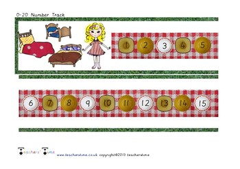 Goldilocks Bowl Number Track to 20