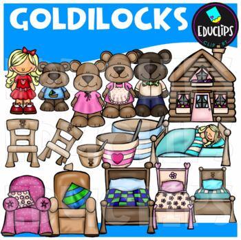 Goldilocks Clip Art Bundle {Educlips Clipart}