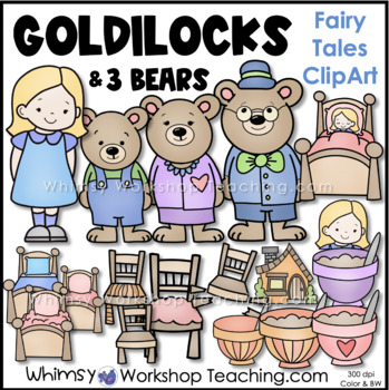 Goldilocks And The Three Bears Clip Art, PNG, 1024x1003px, Watercolor,  Cartoon, Flower, Frame, Heart Download Free