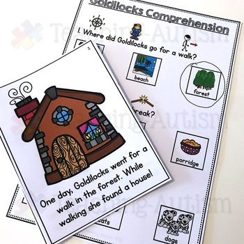 Goldilocks Flashcard Story