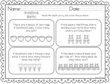 Goldilocks Goodies! {Math & Literacy Activities}