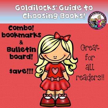 Goldilocks' Guide to Choosing Books-Bulletin Board & Bookmark!