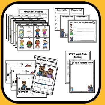 Goldilocks Home Preschool Lesson Plans