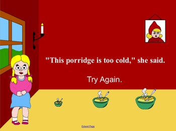 Goldilocks Interactive Literacy Story