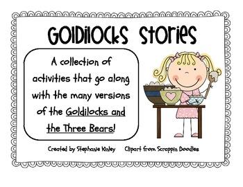 Goldilocks Literacy and Writing Fun!