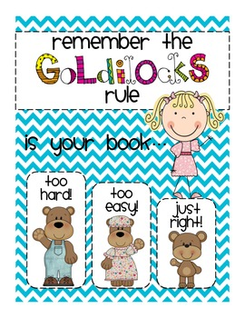 Picking JUST-RIGHT books: Goldilocks Poster