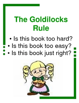 Goldilocks Rule to Reading