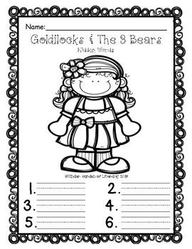 Goldilocks & The 3 Bears-Hidden Word Search