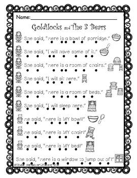 Goldilocks & The 3 Bears-Reading With Dots 2