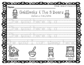 Writing Goldilocks & The 3 Bears