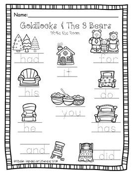 Goldilocks & The 3 Bears-Write The Room