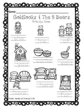 Write the Room-Goldilocks & The 3-(2)